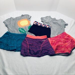 Other - Bundle of girls 6/6X shorts and shirts